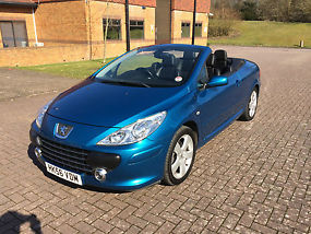 Peugeot 307cc 2.0HDi 136bhp metallic blue 6spd manual image 2