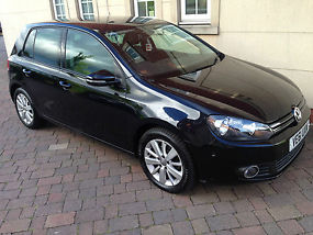 2012 VOLKSWAGEN GOLF 1.6 TDI 105 BLUEMOTION TECH MATCH 5 DR **FULL BLACK HEATED  image 1