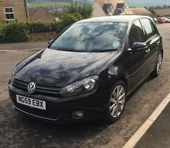 2010 VOLKSWAGEN GOLF GT TDI 140 BLACK
