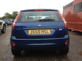 57 Ford Fiesta Style 1.25 petrol three 3 door Metallic Oceanic Blue 2007 image 3
