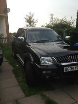 2004 MITSUBISHI L200 WARRIOR LWB BLACK image 2