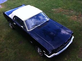 1965 Mustang convertible Black -factory four speed 289 V8 image 1