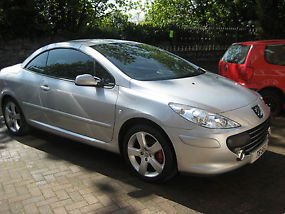 PEUGEOT 307 CC SPORT CONVERTIBLE 2008, DIESEL, SILVER,LEATHER, LOW MILEAGE FSH image 5