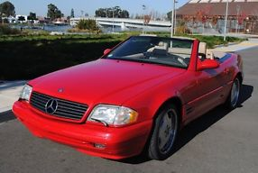 1999 MERCEDES-BENZ SL500 MAGMA RED CONVERTIBLE SPORT WHEELS LOADED