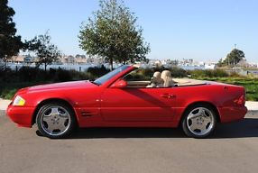 1999 MERCEDES-BENZ SL500 MAGMA RED CONVERTIBLE SPORT WHEELS LOADED image 2