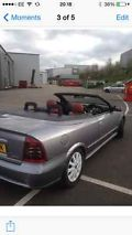 2004 VAUXHALL ASTRA CONV TURBO SILVER RED LEATHER  image 2