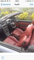 2004 VAUXHALL ASTRA CONV TURBO SILVER RED LEATHER  image 4