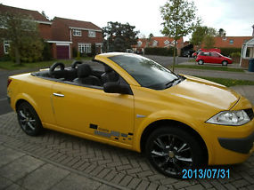 2008 RENAULT MEGANE CONVERTIBLE DYNAMIQUE - LIMITED EDITION - YELLOW ***RARE!*** image 4