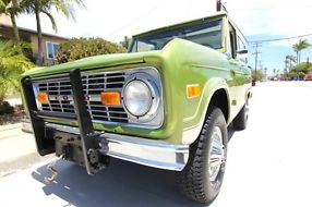 1975 Ford Bronco Ranger 4x4 V8 Uncut 100% Rust free California truck image 8