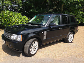 2007 (07) RANGE ROVER SUPERCHARGED BLACK / IVORY / PIANO TRIM image 4