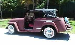 1949 WILLYS JEEP CONVERTIBLE SOFT AND DOORS WITH IT RUNS GREAT JEEP TO RESTORE