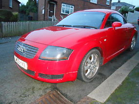 2003 AUDI TT(4x4) QUATTRO (225 BHP)IN RED,WITH ONLY 77,000 MILES