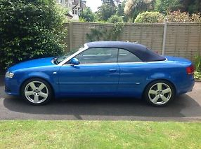 Audi A4 cabriolet 2.0t fsi S Line multitronic RS Sprint Blue full ASH image 3