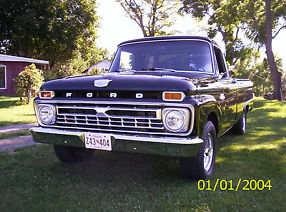 1965 Ford F-100 pick up truck, 2wd, 390 V8, AT, restored hot rod/classic