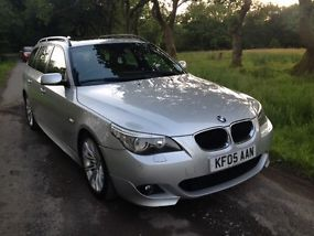 2005 BMW 535D SPORT TOURING AUTO SILVER image 4