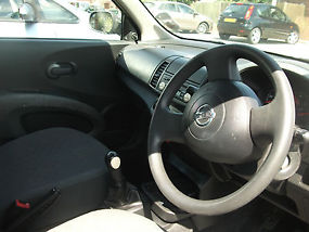 Manual Coral Blue 2005 Nissan Micra, 5 door 1.3