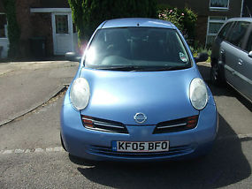 Manual Coral Blue 2005 Nissan Micra, 5 door 1.3 image 5