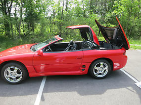 1995 Mitsubishi 3000GT VR4 Spyder Convertible Red(In PRIMO Condition) image 6