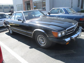 Rare Classic 1979 Mercedes Benz 450SL. Two Tops + Needs Engine! + LOW RESERVE! image 2