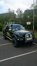 2003 MITSUBISHI L200 WARRIOR LWB BLACK (Low Mileage, Recovery, Off-Road) image 1