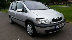 2004 VAUXHALL ZAFIRA DESIGN 7 SEATER TAXED NOVEMBER 2 OWNERS