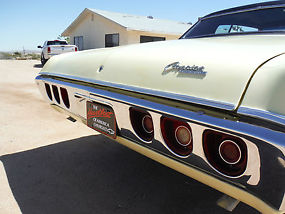 1968 CAPRICE 396 325H.P NUMBERS MATCHING WITH BUILD SHEET, CALIFORNIA BUILT CAR! image 8