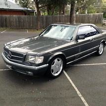MERCEDES BENZ 1988 560SEC 5.6L V8 COUPE ANTHRACITE GREY (W126) 241,000KMS