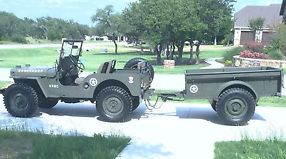 1946 CJ2A Willys and Bantam Trailer