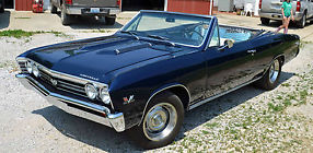1967 Chevrolet Chevelle SS 396 Convertible (Clone) - Fresh Frame Off Restoration image 4