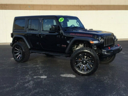 2018  Wrangler Unlimited Rubicon 19107 Miles Black Clearcoat SUV 3.6L V6 Cyl