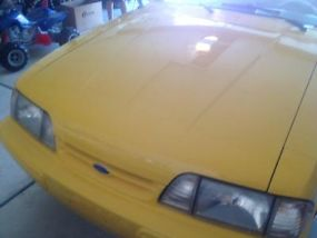 1993 Ford Mustang LX 5.0 Yellow Convertible Limited Edition Only 1503 Made image 2