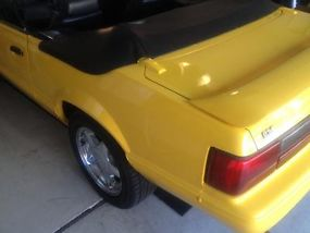 1993 Ford Mustang LX 5.0 Yellow Convertible Limited Edition Only 1503 Made image 7