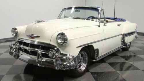classic vintage chrome chevy convertible 350 v8 auto transmission white image 5