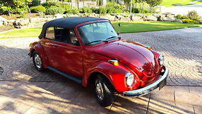 1973 Volkswagen Beetle red convertible excellent condition inside and out image 2