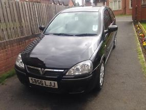 2006 VAUXHALL CORSA SXI+ 1.4 16V BLACK 3 DOOR not golf fiesta polo  image 1