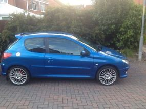 2006 peugeot 206 sport blue gti replica. Black Bedroom Furniture Sets. Home Design Ideas