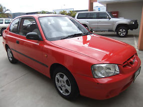 Hyundai Accent (2000) 3D Hatchback 5 SP Manual 1.5L 6 MTH REG & RWC
