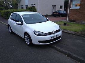 59 Volkswagen golf 2.0 tdi 5 door candy white fsh