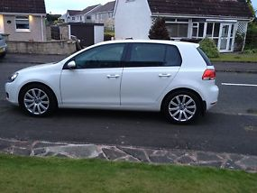 59 Volkswagen golf 2.0 tdi 5 door candy white fsh image 1