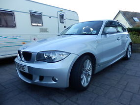 2008 58 bmw 118d m sport silver. Black Bedroom Furniture Sets. Home Design Ideas