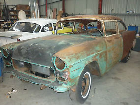 1955 Chevrolet Bel Air 2 door post suit resto, drag, pro street cruiser