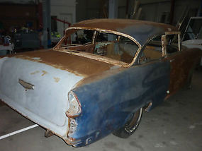 1955 Chevrolet Bel Air 2 door post suit resto, drag, pro street cruiser  image 2