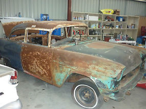 1955 Chevrolet Bel Air 2 door post suit resto, drag, pro street cruiser  image 3