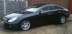 MERCEDES CLS 350 COUPE AUTO 2005 65K MILES BLACK & BLACK LEATHER SAT NAV FSH