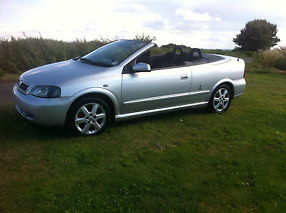 2003 VAUXHALL ASTRA COUPE CONVERTIBLE BERTONE SILVER STUNNING EXAMPLE 1.8 16V