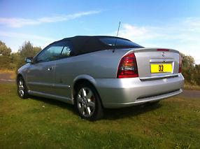 2003 VAUXHALL ASTRA COUPE CONVERTIBLE BERTONE SILVER STUNNING EXAMPLE 1.8 16V image 3