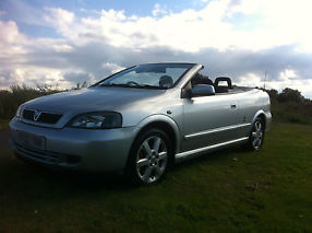 2003 VAUXHALL ASTRA COUPE CONVERTIBLE BERTONE SILVER STUNNING EXAMPLE 1.8 16V image 7