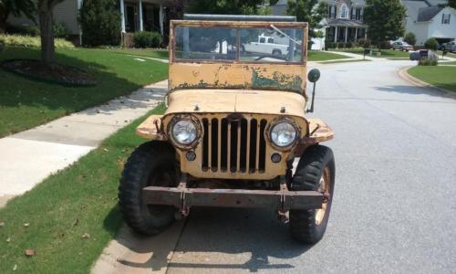 Jeep CJ-2A, early 1946 with column shift and rear PTO