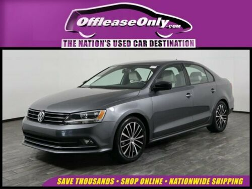 Off Lease Only 2016  Jetta Sedan 1.8T Sport 4 Cylinder Engine 1.8L/110