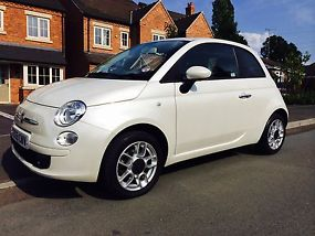 FIAT 500 1.4 SPORT 2010 REG FUNK WHITE LOW MILEAGE TAX & MOT image 1